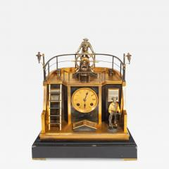 A Late 19th century French novelty quarterdeck mantel clock by Guilmet Paris - 1667131