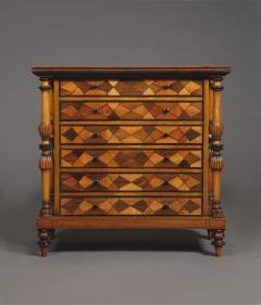 A Late George IV Geometric Inlaid Specimen Woods Commode - 1447692