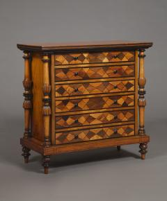 A Late George IV Geometric Inlaid Specimen Woods Commode - 1447693