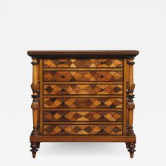 A Late George IV Geometric Inlaid Specimen Woods Commode - 1448572