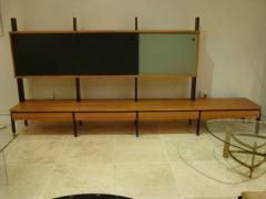 A Long Modernist Wall Unit in European Birch and Lacquer - 255510