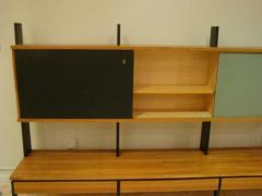 A Long Modernist Wall Unit in European Birch and Lacquer - 255511