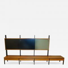 A Long Modernist Wall Unit in European Birch and Lacquer - 256962