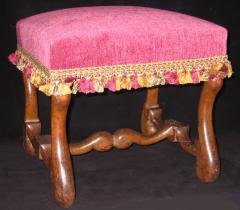 A Louis XIII Walnut Tabouret - 315392