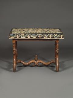 A Louis XIV Center Table Mounted With Rare Petit Point Floral Needlework Top - 1894702