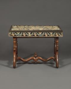 A Louis XIV Center Table Mounted With Rare Petit Point Floral Needlework Top - 1894704