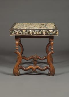 A Louis XIV Center Table Mounted With Rare Petit Point Floral Needlework Top - 1894705