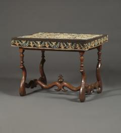 A Louis XIV Center Table Mounted With Rare Petit Point Floral Needlework Top - 1894708