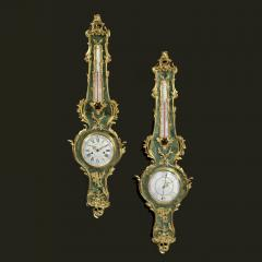A Louis XV Style Clock and Barometer Set - 898711