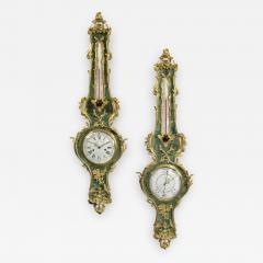 A Louis XV Style Clock and Barometer Set - 901574