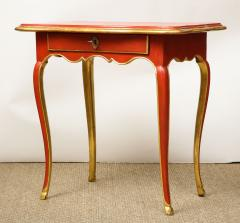 A Louis XV Style Table in Orange with Gold Leaf Accents - 1311129