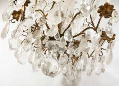 A Louis XV period gilded bronze rock crystal chandelier - 1525722