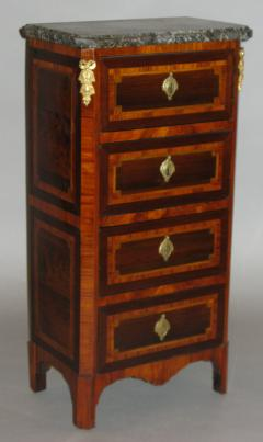 A Louis XVI Parquetry Chest of Drawers or Bedside Table - 115520