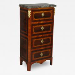 A Louis XVI Parquetry Chest of Drawers or Bedside Table - 115921