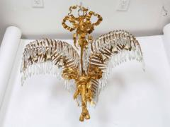A Louis XVI Style Gilt Bronze Palm Leaf Chandelier - 326562