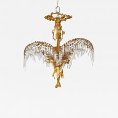 A Louis XVI Style Gilt Bronze Palm Leaf Chandelier - 327134