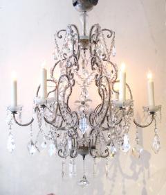 A Lustrous Italian Rococo Style Beaded 6 Light Chandelier - 360715