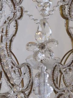 A Lustrous Italian Rococo Style Beaded 6 Light Chandelier - 360717