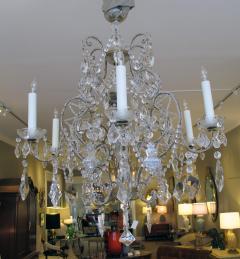 A Lustrous Italian Rococo Style Beaded 6 Light Chandelier - 360718