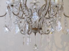 A Lustrous Italian Rococo Style Beaded 6 Light Chandelier - 360719