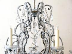 A Lustrous Italian Rococo Style Beaded 6 Light Chandelier - 360720