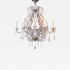 A Lustrous Italian Rococo Style Beaded 6 Light Chandelier - 361496