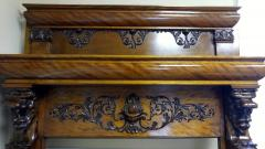 A Magnificent Antique Carved Fireplace Mantel - 94766