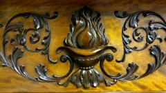 A Magnificent Antique Carved Fireplace Mantel - 94771