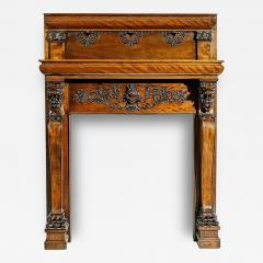 A Magnificent Antique Carved Fireplace Mantel - 96390