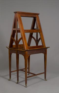 A Mahogany George V Retractable Folio Stand Or Easel With Fretwork Decoration - 923228