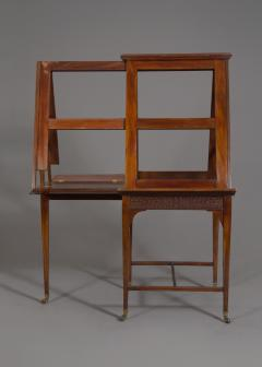 A Mahogany George V Retractable Folio Stand Or Easel With Fretwork Decoration - 923229