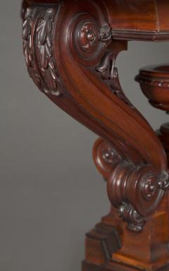 A Mahogany Neoclassical Center Table With Concentric Turned Marble Molded Top - 854524