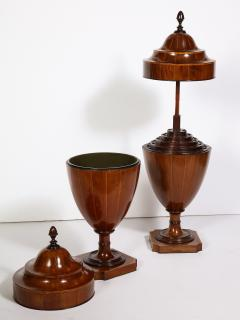 A Matched Pair of English Mahogany Cutlery Urns - 1312472