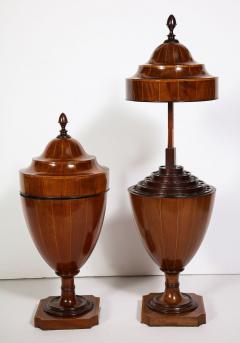 A Matched Pair of English Mahogany Cutlery Urns - 1312473