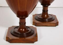 A Matched Pair of English Mahogany Cutlery Urns - 1312474