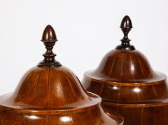A Matched Pair of English Mahogany Cutlery Urns - 1312475
