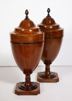 A Matched Pair of English Mahogany Cutlery Urns - 1312477