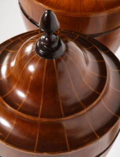A Matched Pair of English Mahogany Cutlery Urns - 1312478