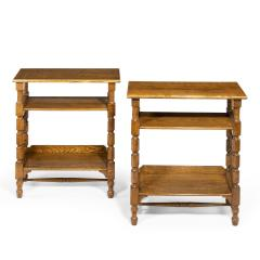 A Matched Pair of Oak Side Tables Attributed to Liberty s - 1047299