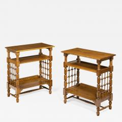 A Matched Pair of Oak Side Tables Attributed to Liberty s - 1050273