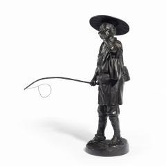 A Meiji period bronze of a cricket catcher - 1688256