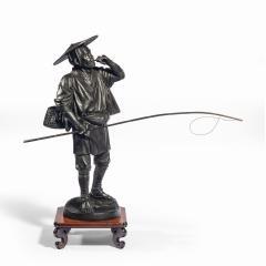 A Meiji period bronze of a cricket catcher - 1688258