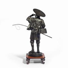 A Meiji period bronze of a cricket catcher - 1688264