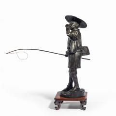 A Meiji period bronze of a cricket catcher - 1688265