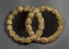 A Mirror in the form of Laurel Wreaths retaining its original gilding - 1036737