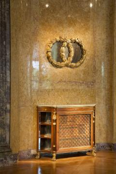 A Mirror in the form of Laurel Wreaths retaining its original gilding - 1036739