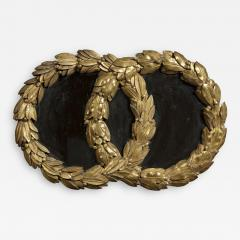 A Mirror in the form of Laurel Wreaths retaining its original gilding - 1037358