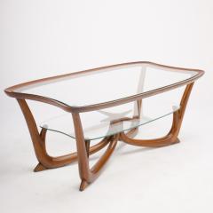 A Modern Italian mahogany coffee table with glass top circa 1950 - 1660933