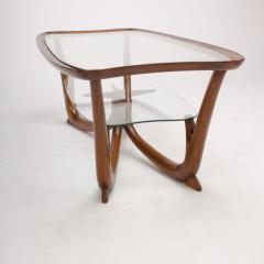 A Modern Italian mahogany coffee table with glass top circa 1950 - 1660934