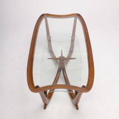 A Modern Italian mahogany coffee table with glass top circa 1950 - 1660935